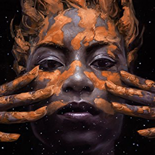 image of main character from book cover of Binti